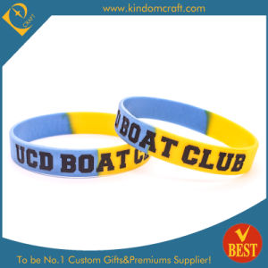 Segmented Imprinting Silicone Wristbands/Bracelets in High Quality Low Price pictures & photos
