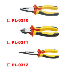 Germany Type Combination/Diagonal Cutting/Long Nose Pliers Two Color Handle pictures & photos