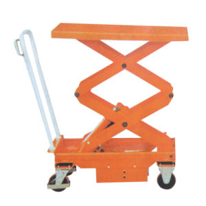 500kg Hydraulic Scissor Hand Lift Tables pictures & photos