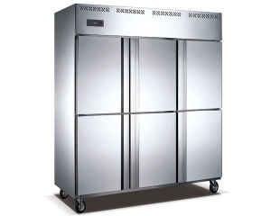 1440L Air Cooling Stainless Steel Upright Freezer for Food Storage pictures & photos
