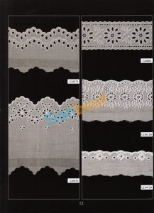 Fashion Designs Beautiful Cotton Embroidery Lace with Different Colors pictures & photos