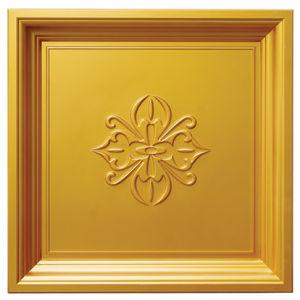 Gold FRP Tile Look 3D Waterproof Wall Panel