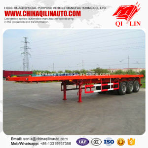 35 Tons Payload Flatbed Semi Trailer with Mechanical Suspension pictures & photos