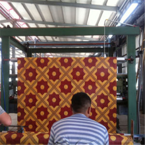PVC Roll Flooring Flet Backing/ Weight 45kg/48kg pictures & photos