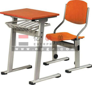 Folding School Furniture Adjustable Desk and Chair/Adjustable Single School Furniture/Adjustable Student Desk and Chair Sf-09A pictures & photos