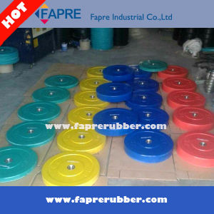 Olympic Bumper Plates Colorful Rubber Weight Plates / Dumbbell Set pictures & photos