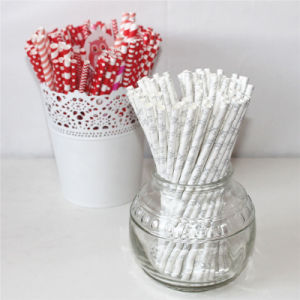 Love Pattern 100% Eco-Friendly Paper Straw for Wedding Day pictures & photos