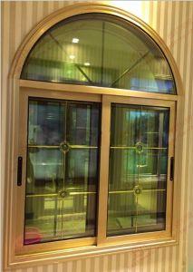 American Quality Woodgrain Aluminium Sliding Window (BHA-SWA04) pictures & photos