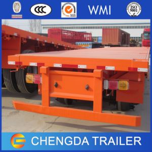 Utility Truck Trailer 40FT Gooseneck Flatbed Container Semi Trailer pictures & photos