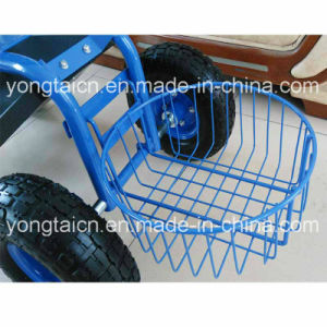 Garden Tractor Scoot with Round Basket pictures & photos