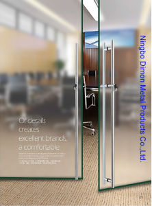 Dimon H Type Stainless Steel Glass Door Handle Dm-DHL 052 pictures & photos