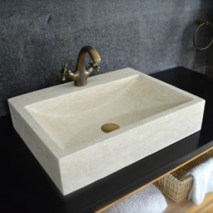 Grade a Rectangular Natural Stone Vessel Sink pictures & photos