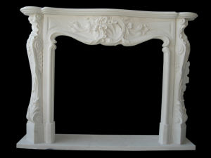 White Fireplace (FRP331) pictures & photos