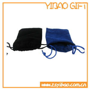 Cheap Custom Blue Velvet Pouch for Promotioal Gift (YB--PB-12) pictures & photos