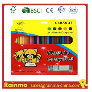 24 PCS Color Plstic Crayon with Sharpener and Eraser pictures & photos