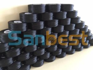 Sidedless Black Pre-Wound Bobbins Thread for Embroidery pictures & photos