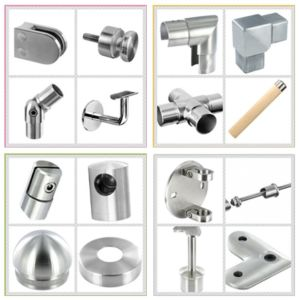 Stainless Steel Handrail / Tube Fitting / Railing Fitting / Square Base Plate pictures & photos