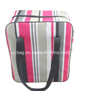 Insulated Cooler Bag in Strip Pattern