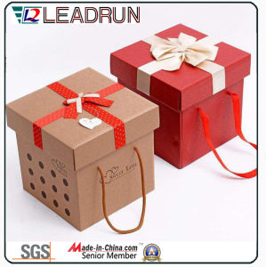 Cardboard Paper Present Gift Souvenir Packing Box Jewelry Gift Tin Box Wine Wood Gift Box (M223) pictures & photos