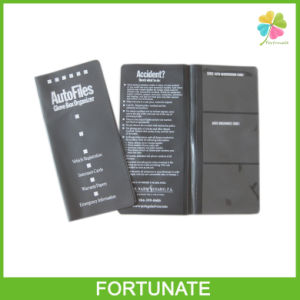 Black Cover Leather Passport Holder for Card pictures & photos