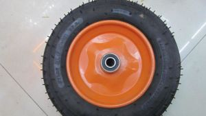 Wheelbarrow Tire 350-8/Rubber Wheel for Trolley /Pneumatic Wheels for Wheel Barrow pictures & photos
