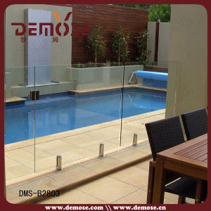 China glass pool fence spigot dms b2803 china toughened glass pool fencing child safety - Advantage using tempered glass fencing swimming pool balcony deck ...