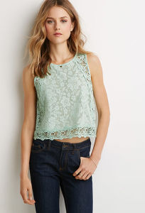 New Arrvial Fashion Ladies Floral Crochet Tank Top pictures & photos