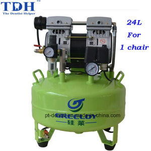 CE Noiseless 24L Dental Air Compressor (TDH-61) pictures & photos