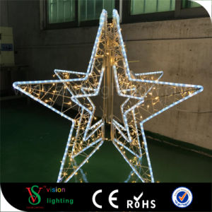 2017 New LED Christmas Outdoor Street Decoration 3D Star Motif Lights pictures & photos