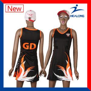 Healong Digital Print Latest Design Netball Dress pictures & photos