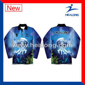 Healong Sportswear Digital Print Long with High Quality Fishing Jersey pictures & photos