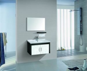 Bathroom Furniture MDF Double Bathroom Cabinet with Mirror pictures & photos