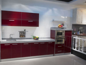 UV High Glossy Kitchen Cabinet (BR-U005) pictures & photos