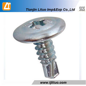 White Zinc Plated Wafer Head Self Drilling/Tapping Screw pictures & photos