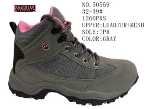 Gray Color Children Hiking Shoes pictures & photos