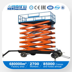 Four Wheel Scissors Type Movable Lift Table (SJY) pictures & photos