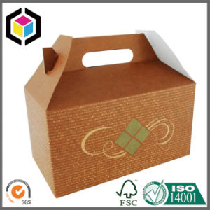 Plastic Handle Foldable Corrugated Cardboard Paper Packaging Box pictures & photos