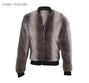 Women Fake Fur Faux Fur Fleece Gradient Windproof Fashion Leisure Jacket pictures & photos