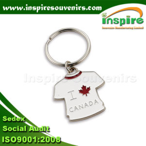 Fancy Metal Customizing T-Shirt Keychain pictures & photos