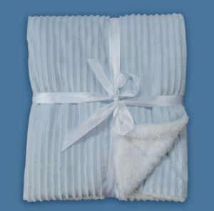 Embossed Ribbon Micro Mink and Sherpa Baby Blanket (HR04BB013) pictures & photos