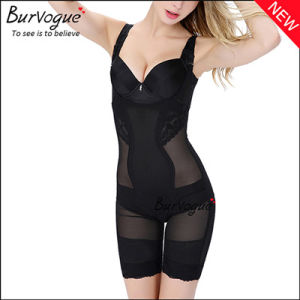 U-Shaped Chest Translucent Body Shaper Lace Bodysuit