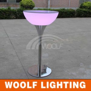 LED Plastic Modern Design Glass Top New Bar Center Table pictures & photos