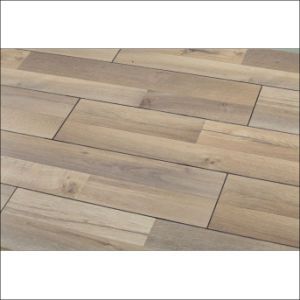 Real Wood Texture Laminate Flooring with V-Groove pictures & photos