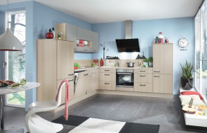 Apartment Project Melamine Suface MDF Kitchen Cupboard pictures & photos