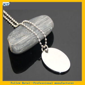 60cm Oval Shape Pet Tag Stainless Steel Ellipse Military Name Tag Silver Sublimation Blank Metal Dog Tag