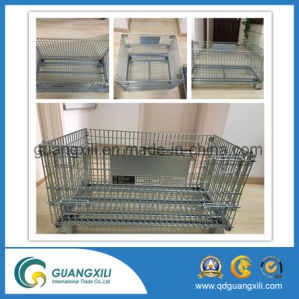 Large Metal Wire Container Storage Cage Wire Mesh Container pictures & photos