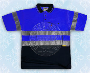 Short Sleeve Safety Polo Shirt with Reflective Tape pictures & photos