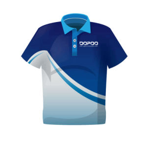High Quality Polo Shirt with Custom Sublimation Printed pictures & photos