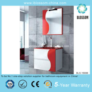 No. 1 Red Color 4mm Silver Mirror Bathroom Cabinet (BLS-16088) pictures & photos