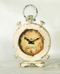 Distressed Look Metal Desktop Clock Home Decoration pictures & photos